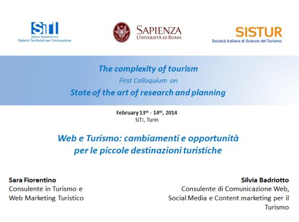Web e Turismo, Cambiamenti e Opportunità per le piccole destinazioni turistiche